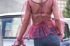 Organza Burgundy Shirt